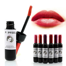 New Arrival brand makeup Bottle Of Red Wine Lipstick Waterproof Long Lasting lip glos Matte lip stick Lip Gloss Liquid Lipstick(China (Mainland))