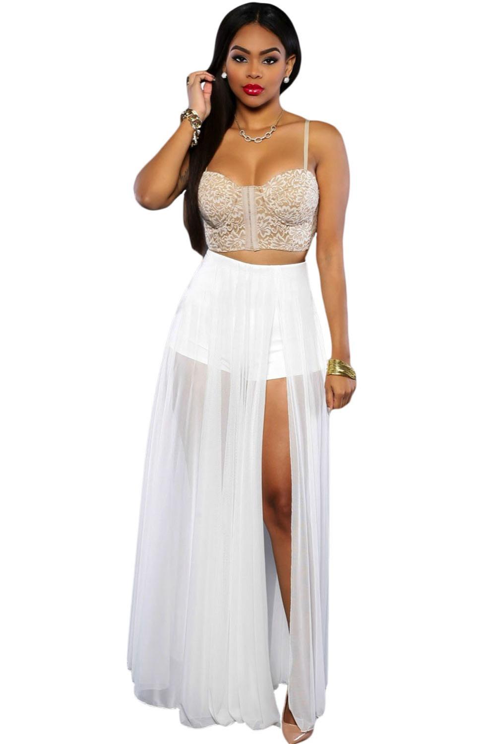Creative Summer Women Fashion Casual High Waist Chiffon Long Maxi Pleated Skirt