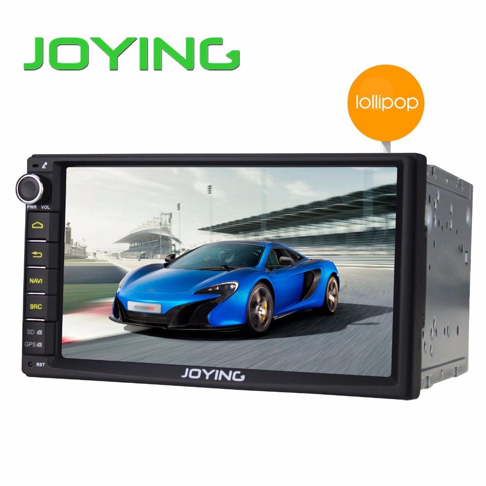 "Joying Double 2 Din Android 5.1.1 Lollipop 7"" Universal Car Radio Quad Core Head Unit 1024*600 HD Car GPS Navigation+Rear Camera(China (Mainland))"