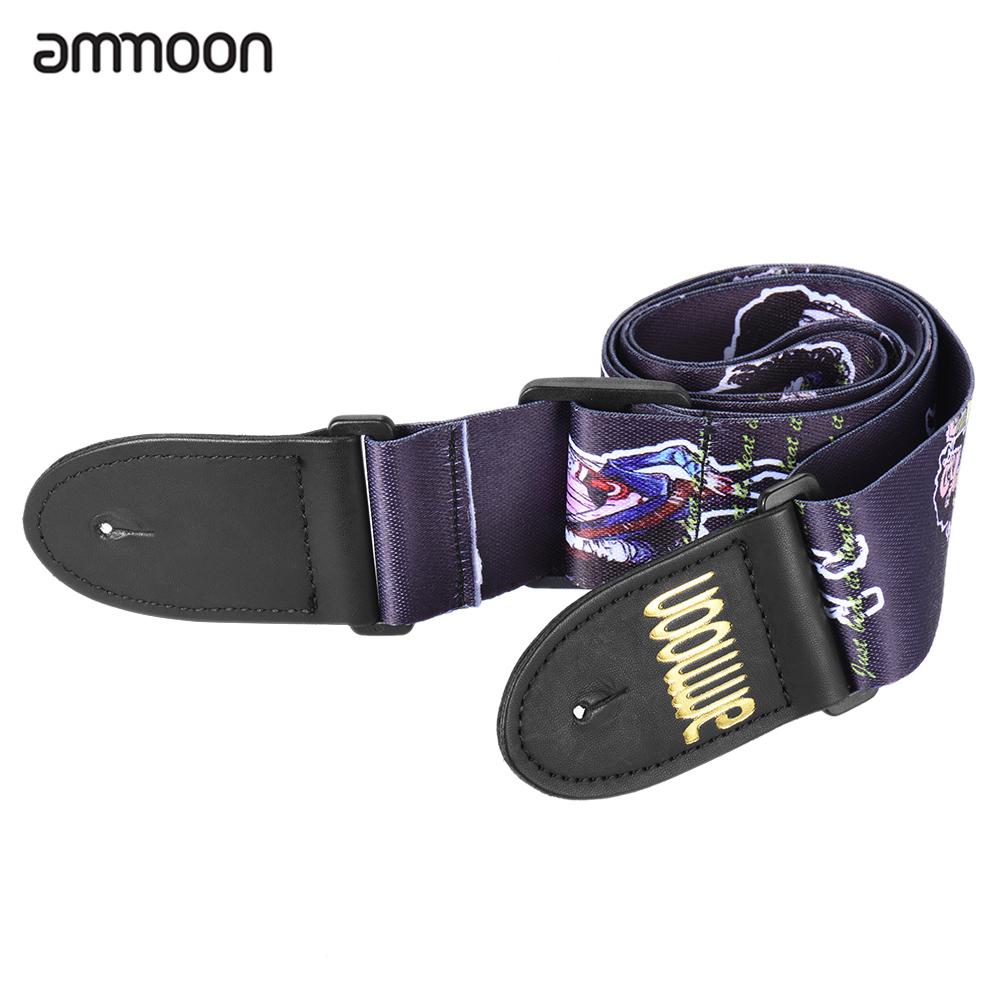ammoon Guitar Strap Belt Adjustable Wide Soft Distinctive Strap Belt for Electric Acoustic Guitar Bass(China (Mainland))