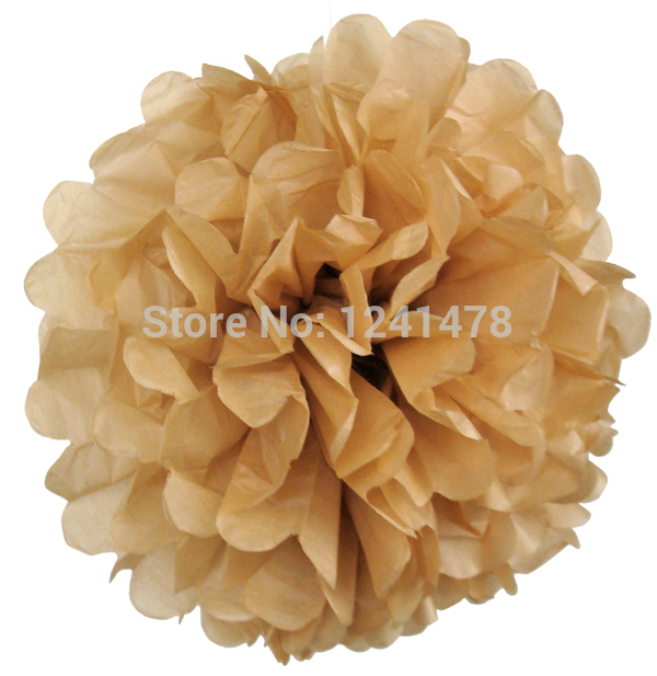 """24 Colors as chart !! Gold paper pom poms garlands party decorations 6""""(15cm) 13pcs/lot tissue paper flower wedding(China (Mainland))"""