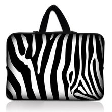 "Buy 14"" Zebra Print Neoprene Soft Laptop Netbook Sleeve Bag Case Cover Pouch+Hide Handle HP DELL for $11.99 in AliExpress store"