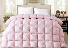 goose down comforter white pink satin winter comforters quit doona duvet king size queen full twin
