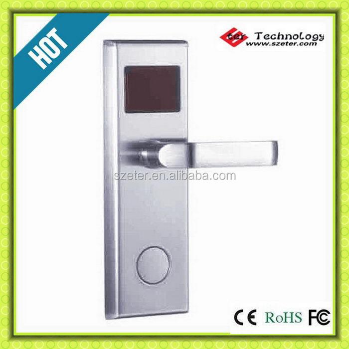 Digital electric Promotion intelligent Electronic RFID hotel key card door lock ET100RF(China (Mainland))