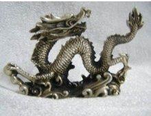 RARE Tibet silver Lucky DRAGON Figurine ,Talismanic 100% free shipping