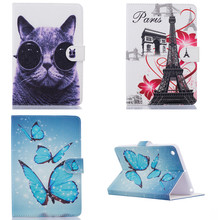 Buy HX Cute Tower OWI butterfly Flower Design Stand Painted PU Leather Case ipad mini 1 2 3 Cover mini2 mini3 for $9.86 in AliExpress store