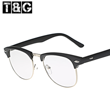 New 2013 Hot Sale Women Men Unisex Semi Rim Elegant Designer Glasses 80's Retro Vintage Optical Eyewear For Girls Free Shipping