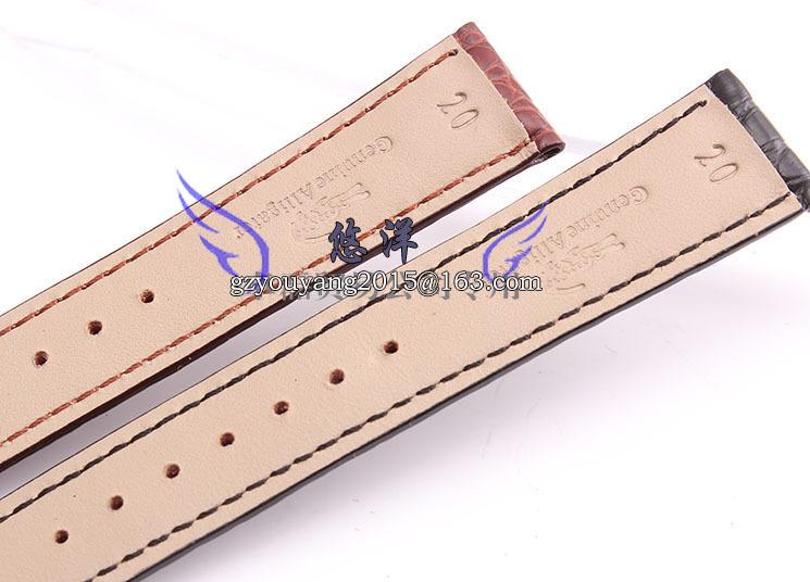 Ремешок из кожи крокодила бабочки ремень адаптер 18 | 20 мм коричневый черный мужчин и женщин смотреть
