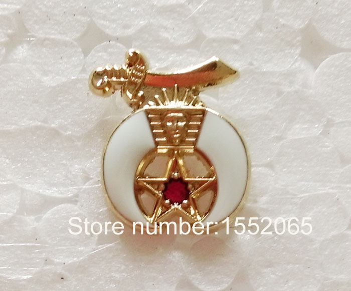 13MM Shrine Lapel Button in gold tone(China (Mainland))