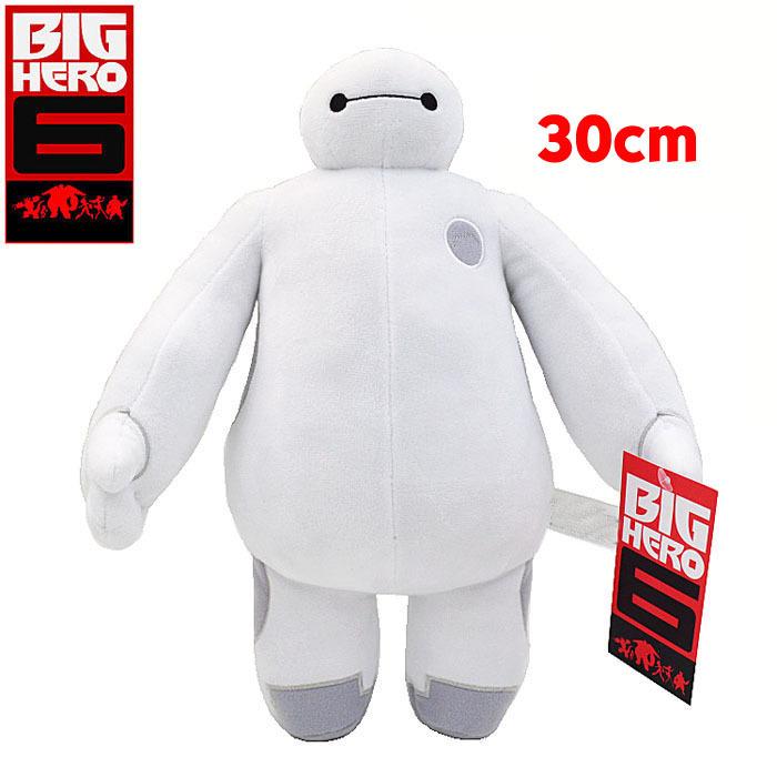 2015 New Big Baymax Plush Doll Toy 30cm Hero 6 wholesale retail bag Stuffed Plush Gift Brinquedos Retail Bag(China (Mainland))