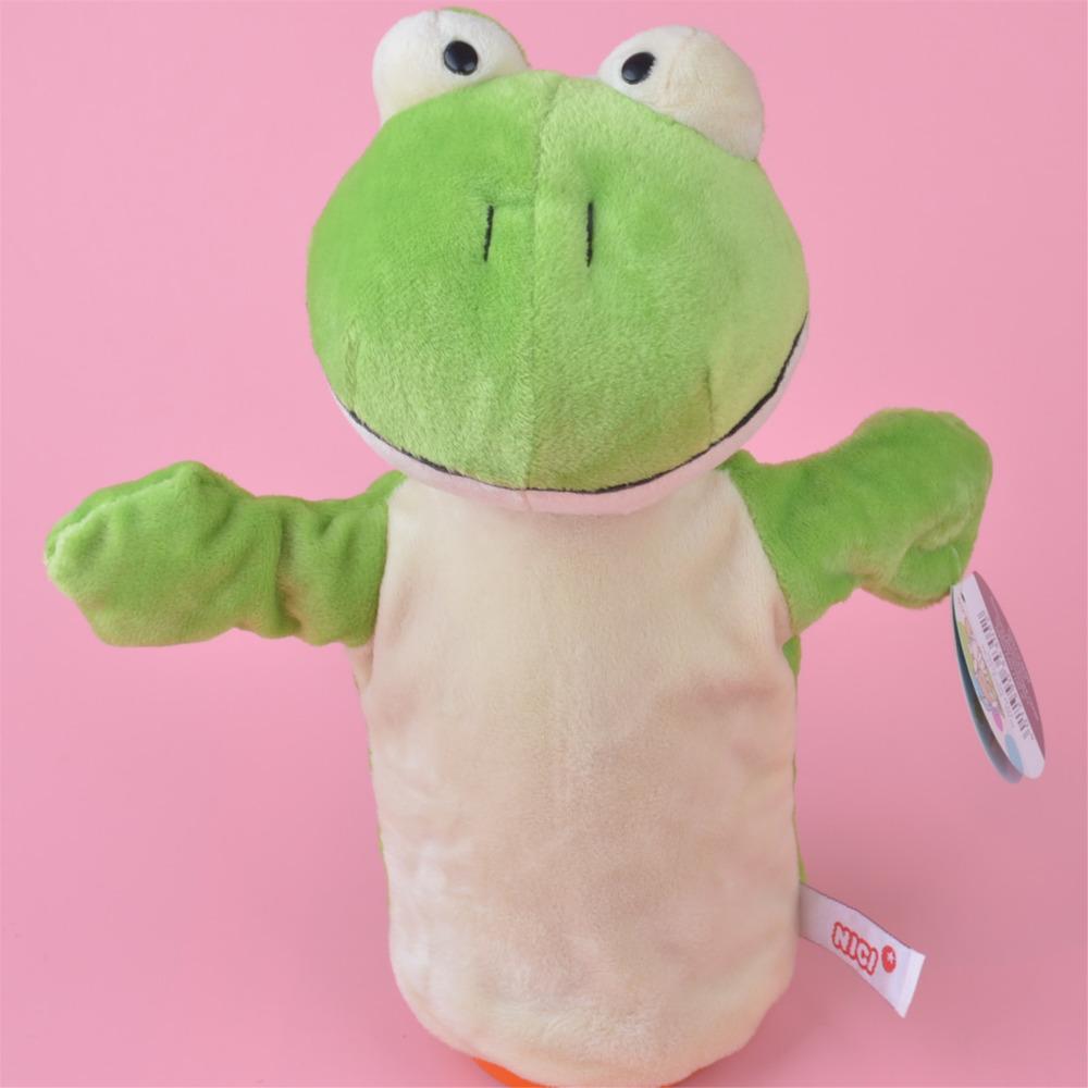 NICI Frog hand puppet plush toy, Stuffed Baby / Kids Doll Toy Gift Free Shipping(China (Mainland))