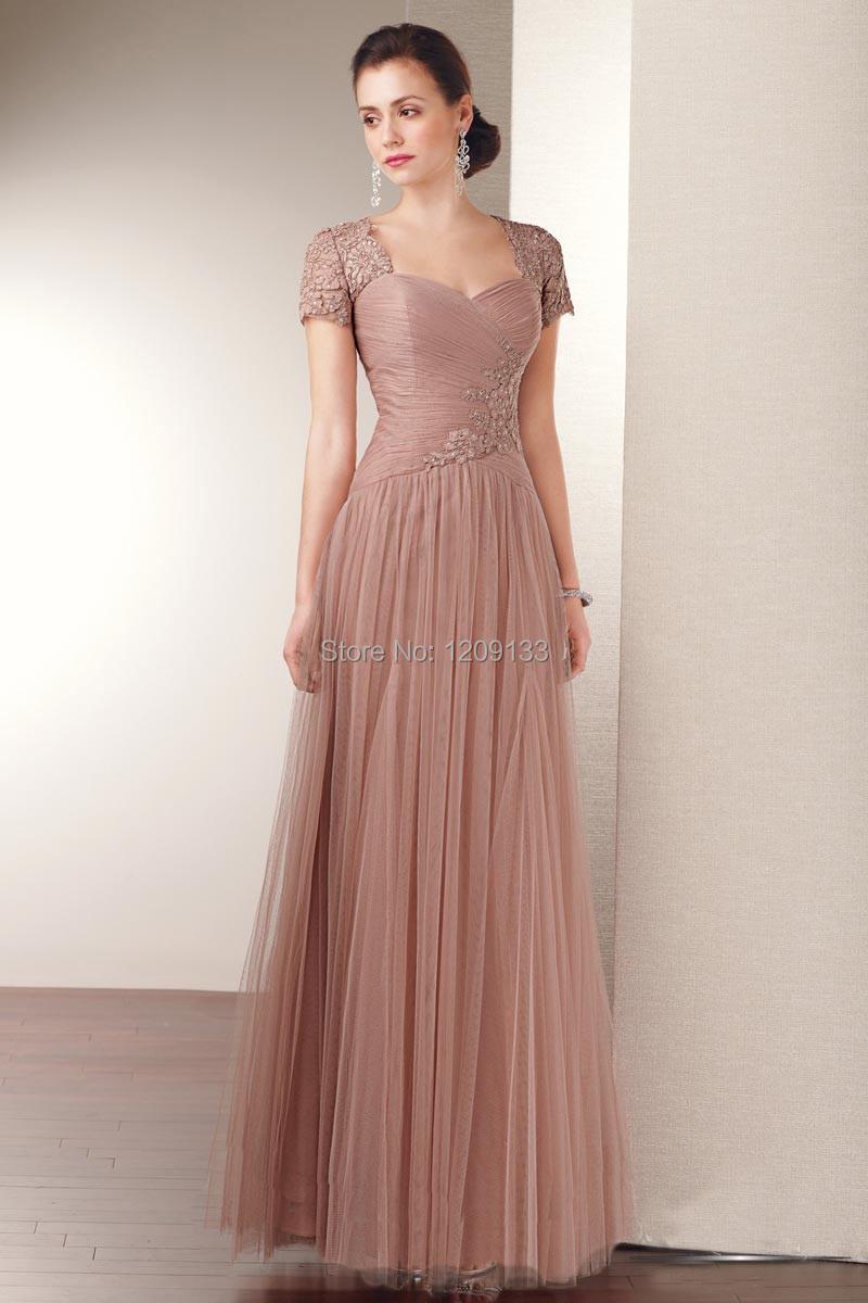 Мать платья невесты длинная вечернее платье элегантный аппликации сексуальный сердечком шея короткий рукав платья vestido де феста