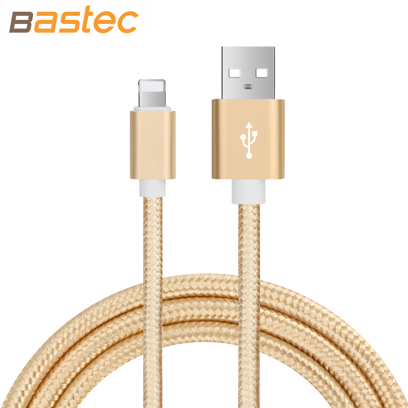 Bastec Ultra Durable Nylon Braided Wire Metal Plug Data Sync Charging Data Phone USB Cable for iPhone 7 6 6s Plus 5s 5 iPad Air(China (Mainland))