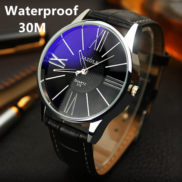 Yazole Brand Waterproof Business Watch 2015 Fashion Casual Men Genuine Leather Wristwatch Sports Watch Relogio Masculino Clock<br><br>Aliexpress