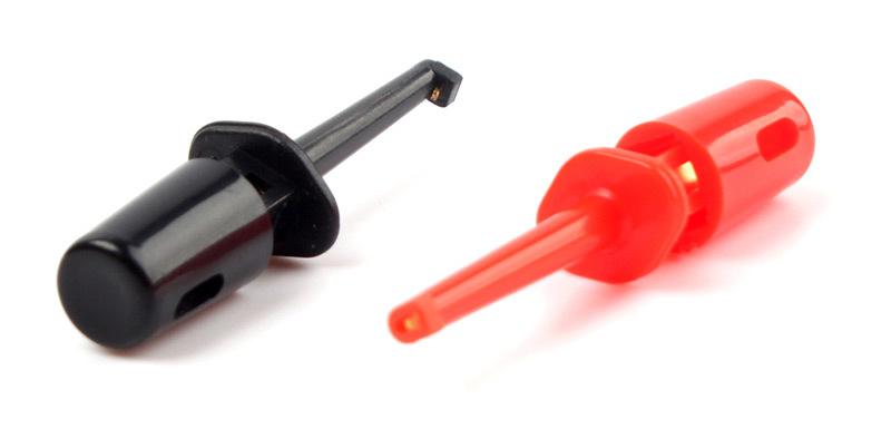 Single Hook Clip Mini Grabber Test Probe 10Pcs lot For SMD IC Multimeter 66985