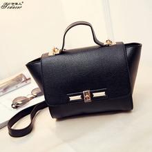2015Fashion Genuine PU Leather Bag Designer Handbags High Quality Hot Sales Minion Tote Bag Famous Sac