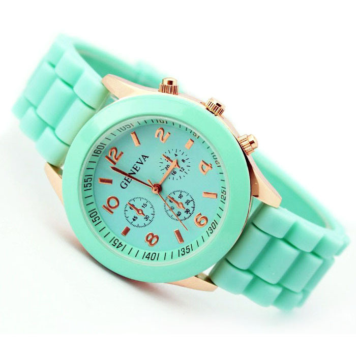 Hot sale Geneva New 2014 Luxury Fashion Designer Ladies sports brand silicone jelly watch Free shipping(China (Mainland))