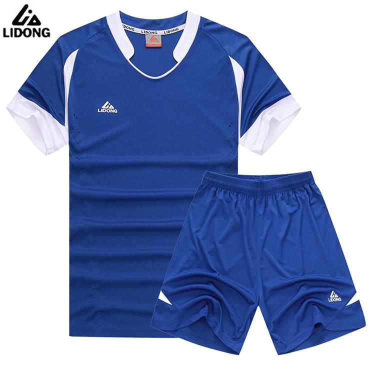2016 New Summer Men Futbol Training Suit Boys Soccer Jersey Youth Set Kids Football Kits Blank Maillot De Foot Short Sleeve Sets(China (Mainland))