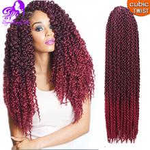 3D TM Cubic Twist Crochet Braids Afri Naptural TM Split Synthetic Ombre Havana Mambo Senegalese Freetress Twist Hair Extensions(China (Mainland))