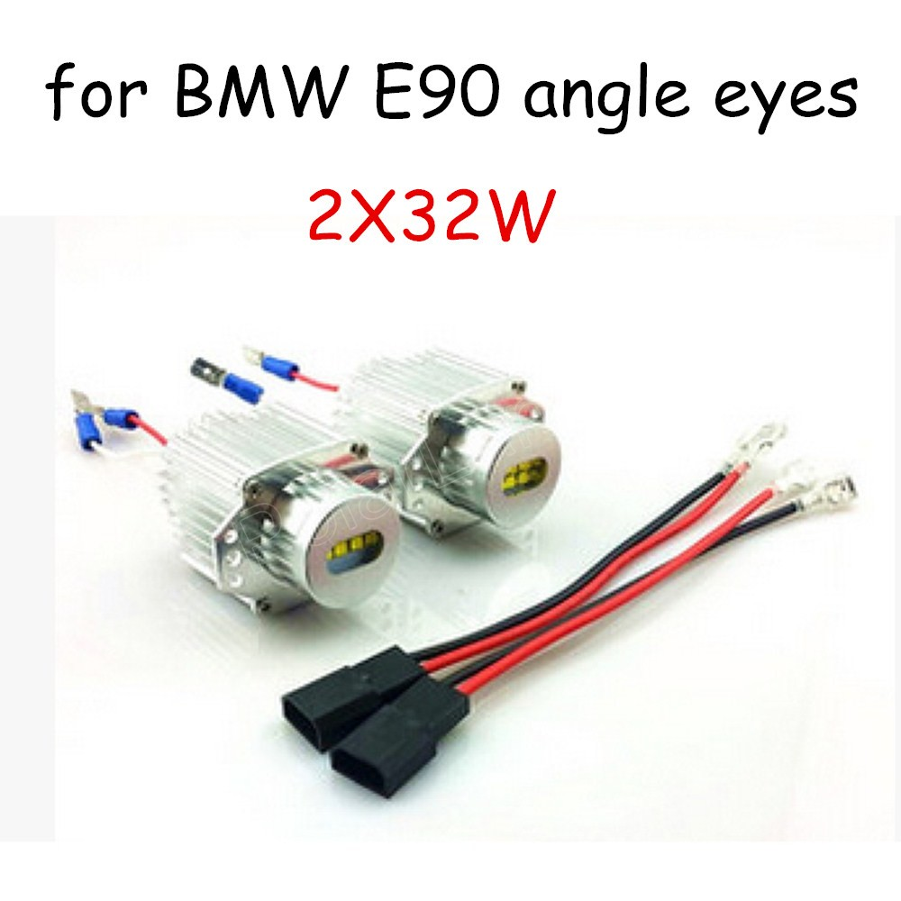 new LED Angel Eyes light 2*32W Bulb For BMW E90 marker lamp free shipping 2 pieces high quality
