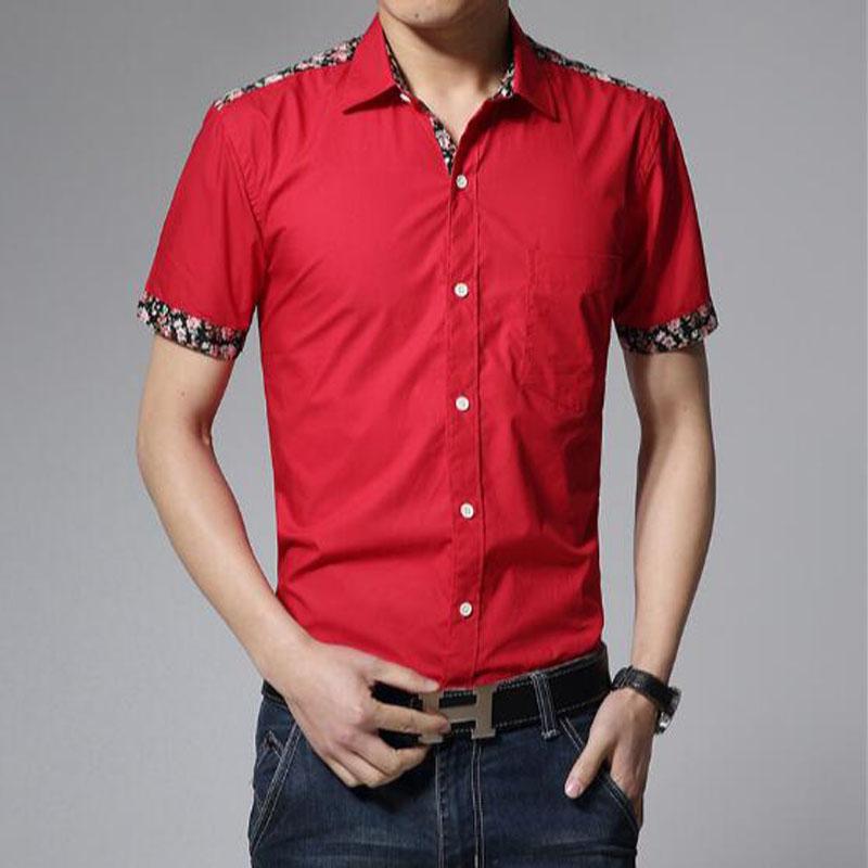 2016 Fashion new men's short-sleeved shirt Slim M-3XL(China (Mainland))