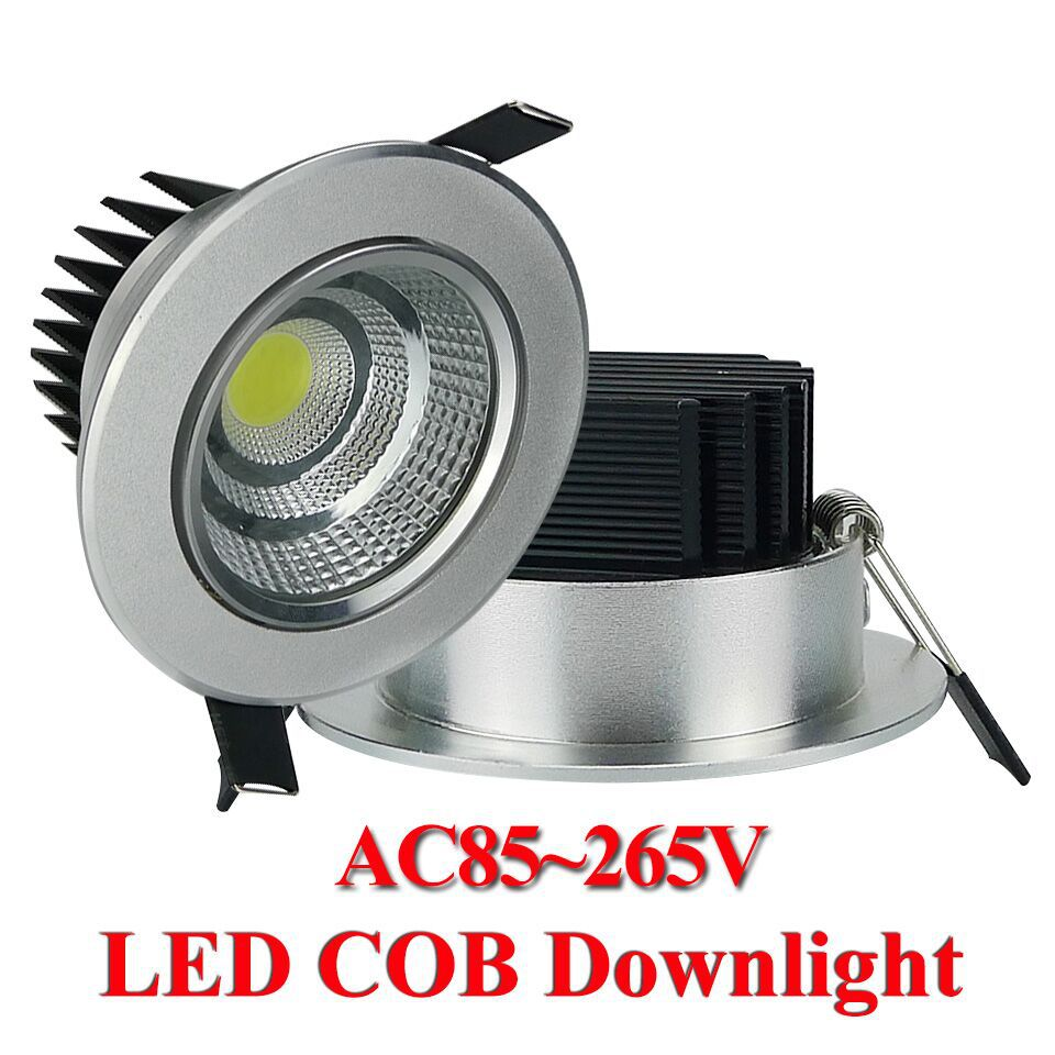 1pc/lot Aluminous 5W LED COB Downlight Dimmable LED Recessed Ceiling Lights Spot Light Lamp AC85-265V CE ROHS Home Decoration(China (Mainland))