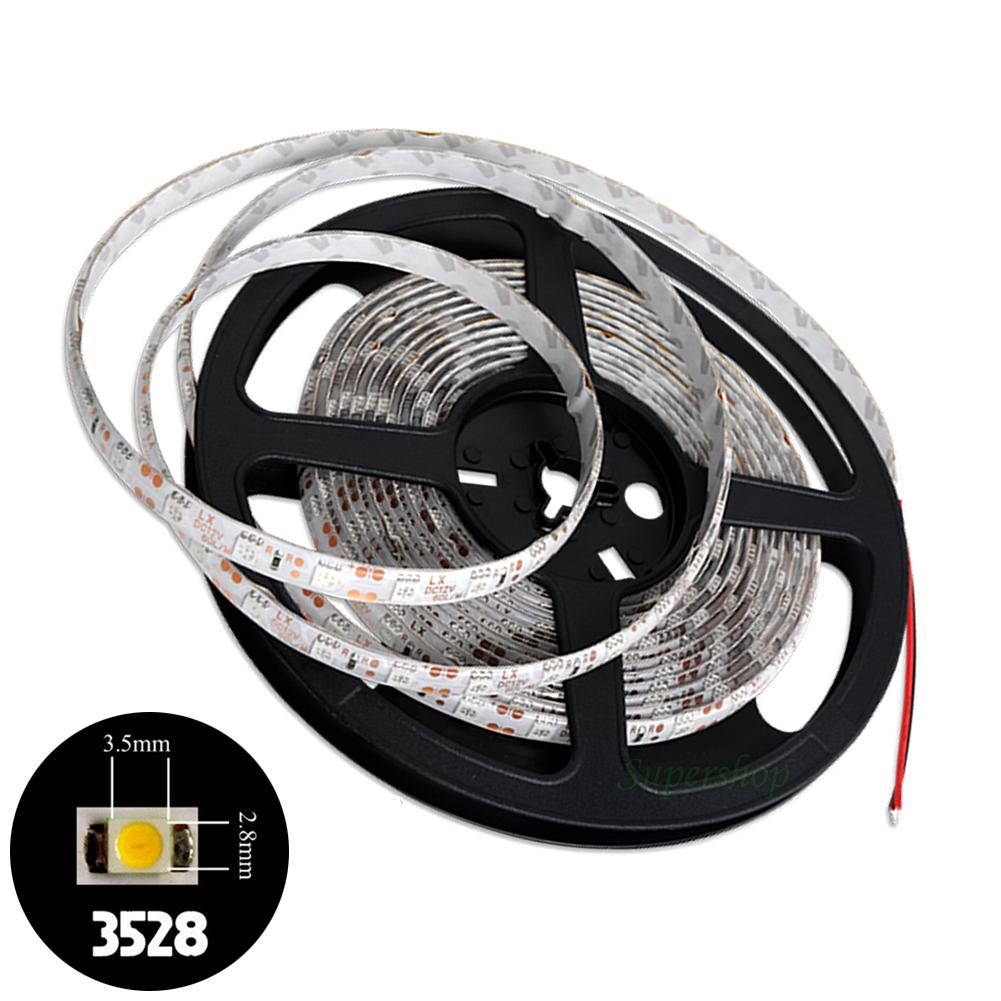 Full Color RGB 12V Power Christmas 1M 60LEDs 3528 SMD Flexible LED Strip Light Roll Super Bright EB7070(China (Mainland))