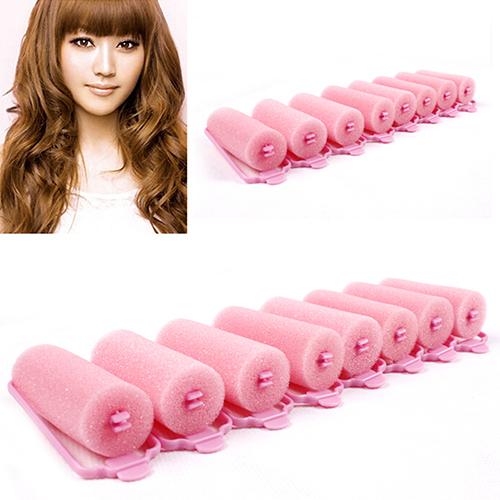 6Pcs Fashion Magic Sponge Foam Hair Curlers Curling Styling Rollers Twist Tool  Latest Product 7LU5