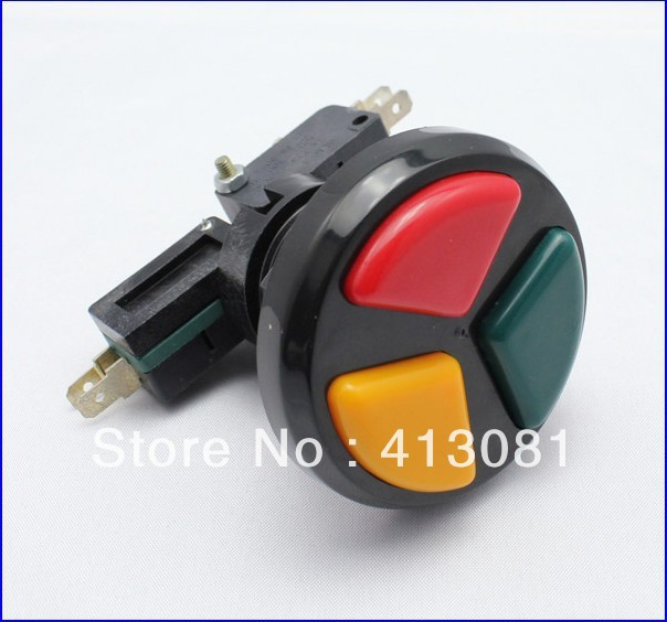 Game machine arcade accessories three-color push button switch multifunctional three-in button switch bl button<br><br>Aliexpress