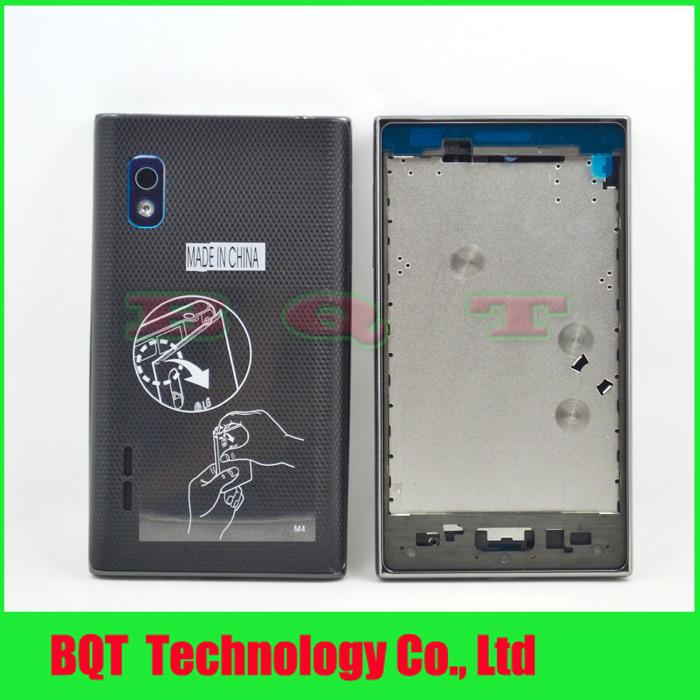 Здесь можно купить  Crazy promotion:For LG Optimus L5 E610 E612 E615 Front Frame +Middle Chassis+Back Cover Door Housing New Black DHL Free shipping  Телефоны и Телекоммуникации