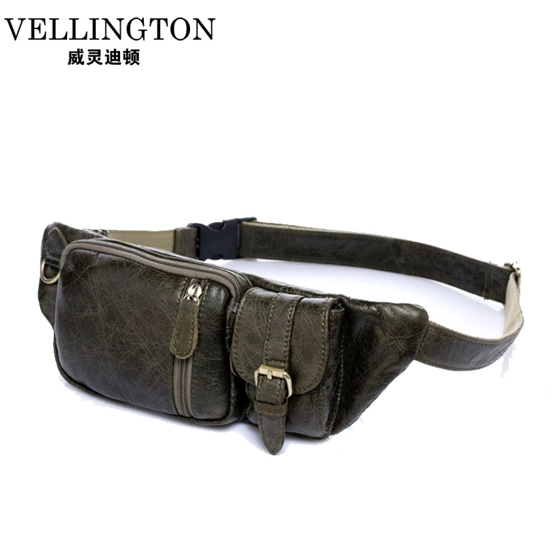 Hot Genuine Leather Waterproof Waist Travel Sport Belt Money Wallet Pouch Fanny Bum Hip Bag Outdoor Sports Pack Hiking Zip Bag(China (Mainland))