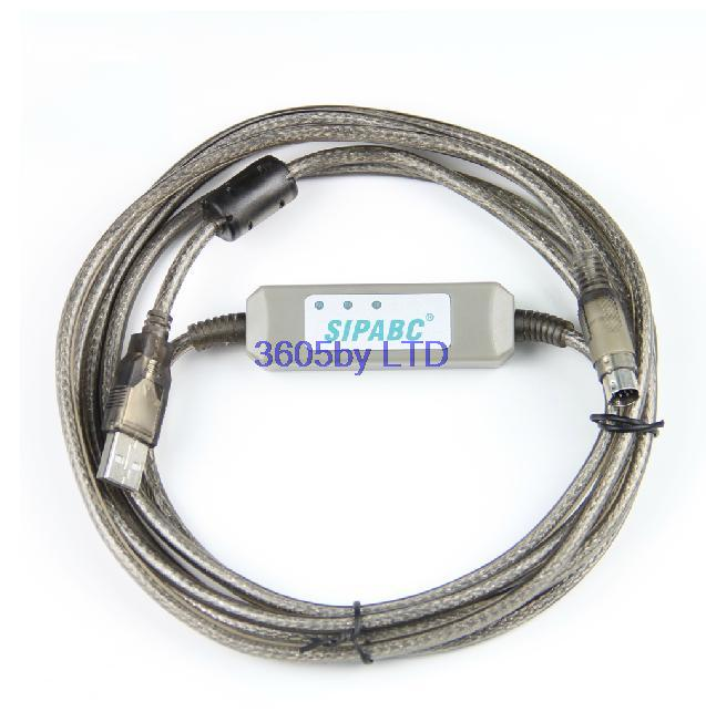 Free shipping 2012 enhanced USB-XC letter jie XC1 XC2 XC3 XC5 all series PLC programming cable<br><br>Aliexpress