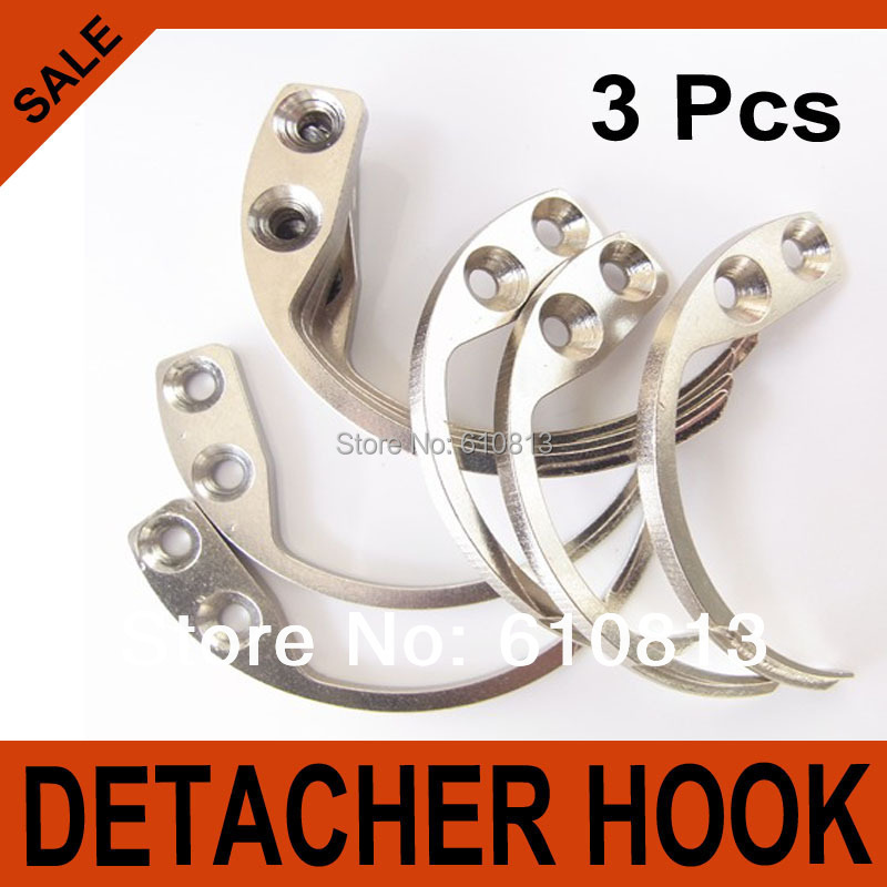 3Pcs Detacher Hook Key Detacher Security Tag Remover Used For EAS Hard Tag Handheld(China (Mainland))