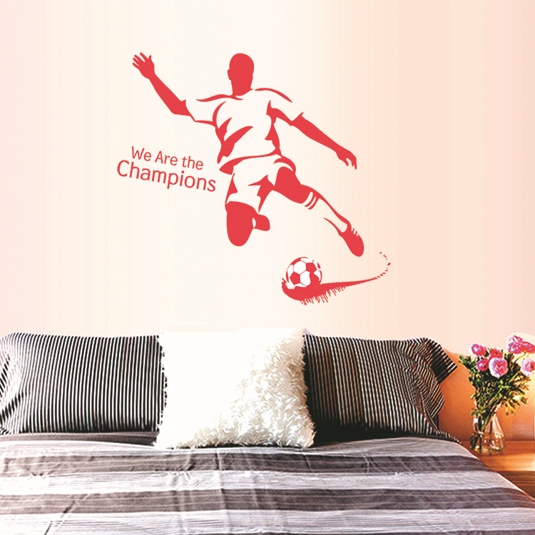 DIY The World Cup Large Soccer Ball Football Wall Stickers Kids Boy Living Room Bedroom Futbol Children Kindergarten Home Decor(China (Mainland))