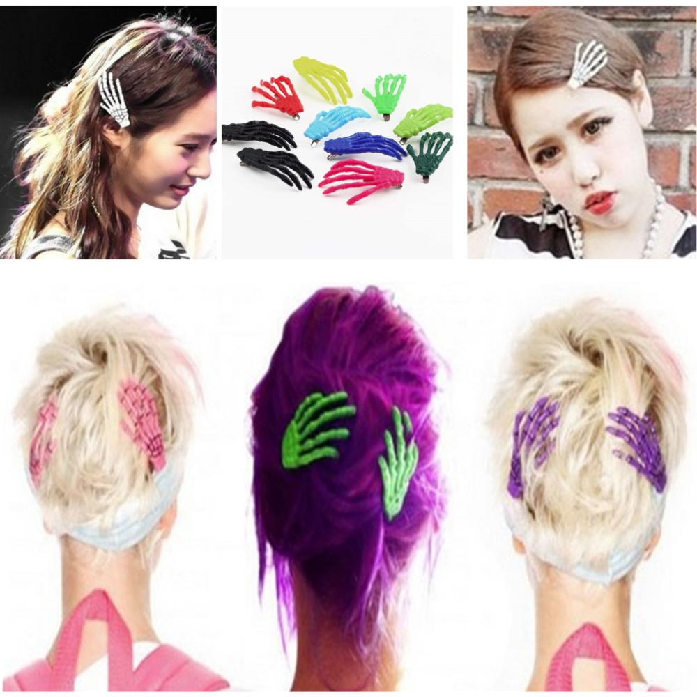 Fashion Hair Accessories Skeleton Claws Skull Hand Hair Clip Hairpin Zombie Punk Horror Bobby Pin Barrettes For Women hair clip(China (Mainland))