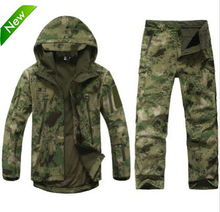 Tad v 4.0 Shark skin soft shell lurkers outdoors tactical military fleece jacket+ uniform pants suits Camouflage hunting clothes(China (Mainland))