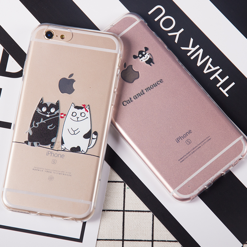 For iPhone 7 Plus Case for Apple iPhone 5 5S 5 SE 6 6S 7 Plus Silicone Soft TPU Flower Cat Shell Bags Capa Para Fundas Cover(China (Mainland))