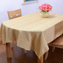 140x240CM Polyester Solid Color Jacquard Dining Table Linen Kitchen Tablecloth Table Covers Rectangular (China (Mainland))