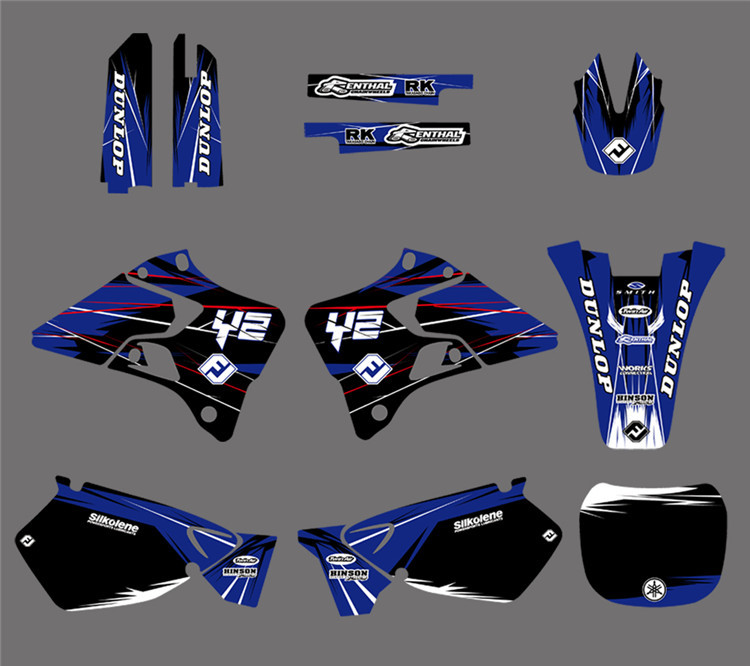 DST0022 New TEAM Motorcycle GRAPHICS&BACKGROUNDS DECALS STICKERS Kits for Yamaha YZ125 YZ250 1996 1997 1998 1999 2000 2001