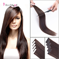 16-28 Inches 1g/s Dark Brown Hot Fusion Flat Tip Indian Remy Extensions Pre-Bonded Keratin Human Hair
