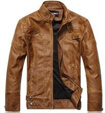 Leather Jacket Men chaqueta Jaqueta Couro Masculino Bomber Leather Jackets Coat Motorcycle Jackets jaqueta de couro masculina()