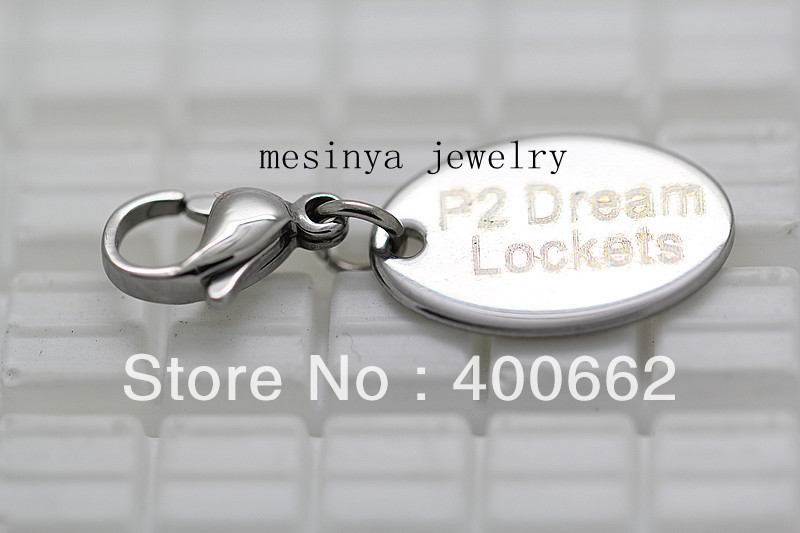 1000pcs s.steel customerized laser logo dangle charm for O ring chain of glass floating charm locket ,locket not included<br><br>Aliexpress