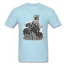 Camiseta Punk Vintage para hombre, camiseta novedosa de dibujos animados, camisetas divertidas de diseñador Monster Truck, novedad de verano, Camiseta de algodón con descuento(China)