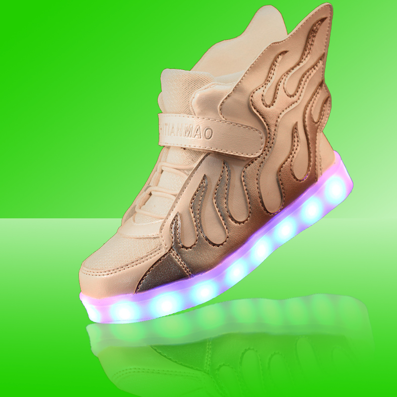 Lemo LED Lights Bright Flame Comfortable New Fashion Spring Summer Autumn Winter Charging Luminous Casual shoes boys and girls<br><br>Aliexpress