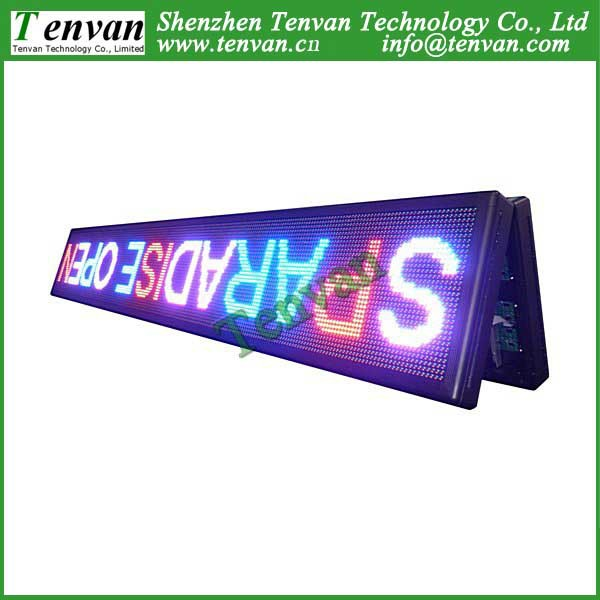 Free shipping double sides led screen advertising outdoor with RBP color, high brightness and 264cm(W)*40cm(H) each side(China (Mainland))