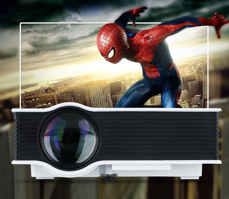 Excelvan UC40 800 Lumens Portable Mini LED Projector Multimedia Home Cinema Theater 800480RGB USBAVSDHDMI 3.5mm Audio out 02