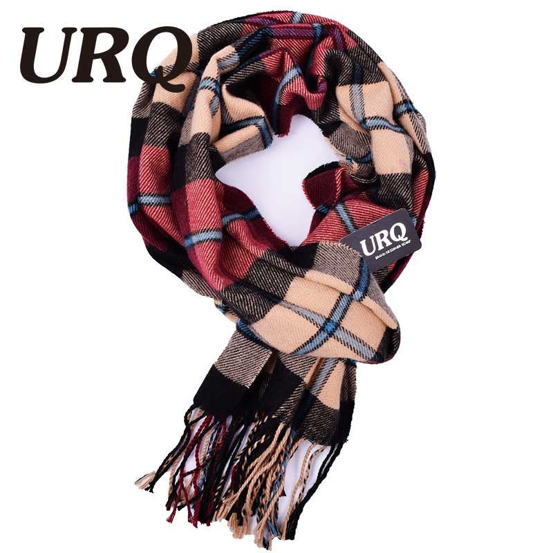tassel plaid men scarf in winter fashion knitted scarves classical plaid scarf for men imitation cashmere scarves 2016 new(China (Mainland))