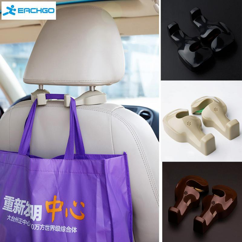 2PCS Resin Generation Car Seat Headrest Bags Organizer Hook Auto Accessories Holder Clothes Hanging Hold hanger 3 Colors
