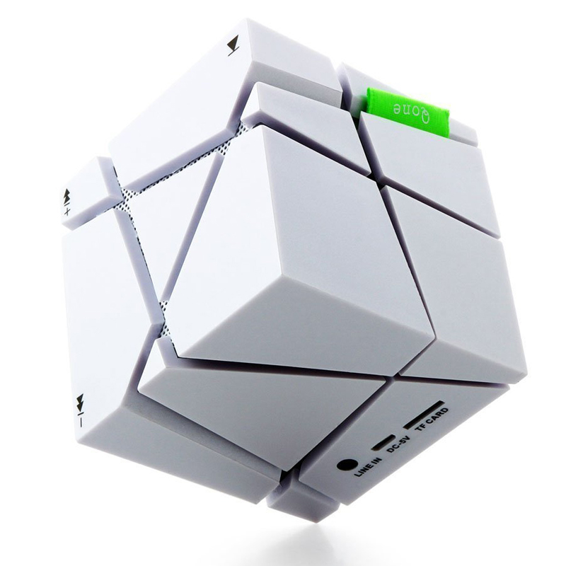 Portable Magic Cube Bluetooth Speaker Wireless Bluetooth Speaker LED Light Support TF card FM Radio Free For Iphone 6S Plus