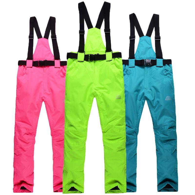 Free shipping new 2016 Germany waterproof ski pants womens high quality snowboard men winter skiing pants(China (Mainland))